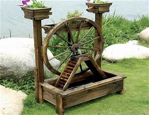 Wooden Water Pump Fountain - Wooden Water Pump Fountain