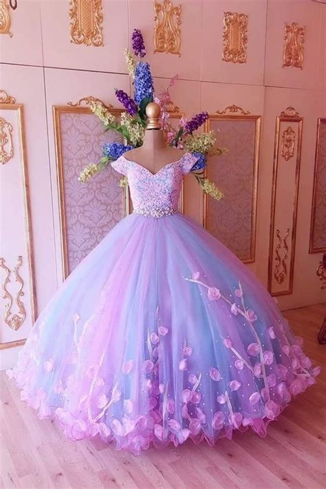princess pink  blue ball gown cheap prom  hiprom