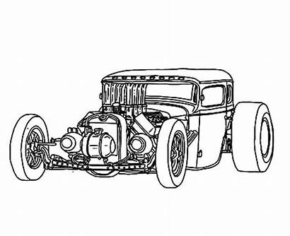 Rod Coloring Pages Drawings Drawing Truck Rat