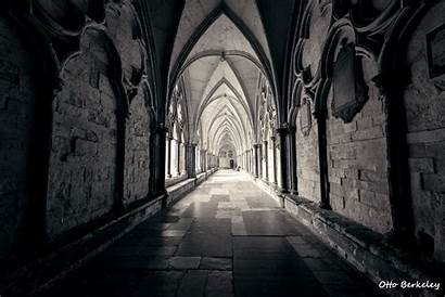 Gothic Architecture Medieval Cathedral Monochrome Building Arch