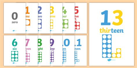 * New * Numbers And Words With Number Shapes 030 Display