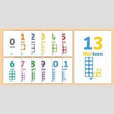 * New * Numbers And Words With Number Shapes 030 Display Posters Numbers