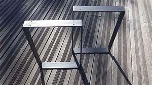 Pied Meuble Design : pied de meuble carre metallique ~ Teatrodelosmanantiales.com Idées de Décoration