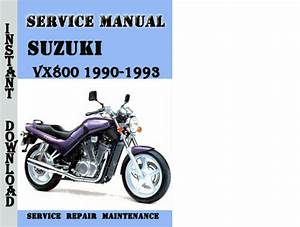 Suzuki Vx800 1990-1993 Service Repair Manual Pdf Download