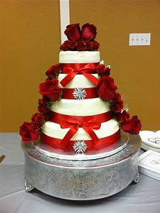 Red and Silver Wedding Cake | My Cakes | Pinterest