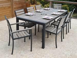 Table De Jardin Carrée 8 Personnes Aluminium by Salon De Jardin Pvc Mobiliers Exterieurs