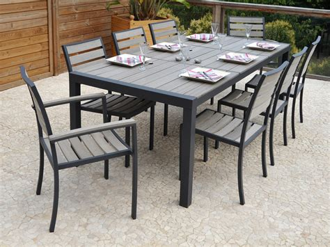 ensemble table chaise ensemble table chaise exterieur table de jardin metal