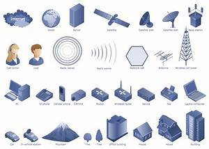 Telecommunication Networks Icons In 2019