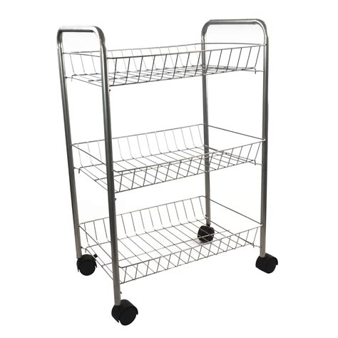 kitchen storage trolleys 3 tier metal kitchen storage trolley vegetable fruit cart 3194