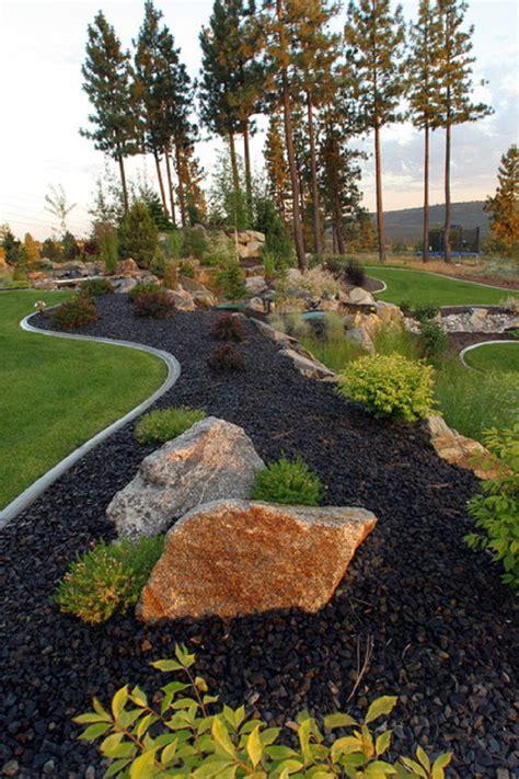 natural large rocks  landscaping homesfeed