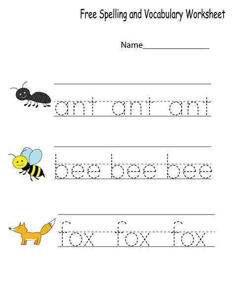 kindergarten vocabulary worksheets pdf free download