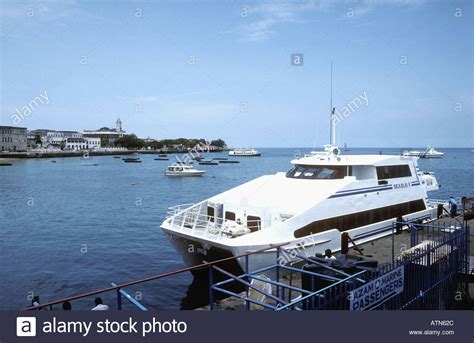 Ferry Boat Africa by Sea Ii A Hydrofoil Passenger Ferry Moored In The