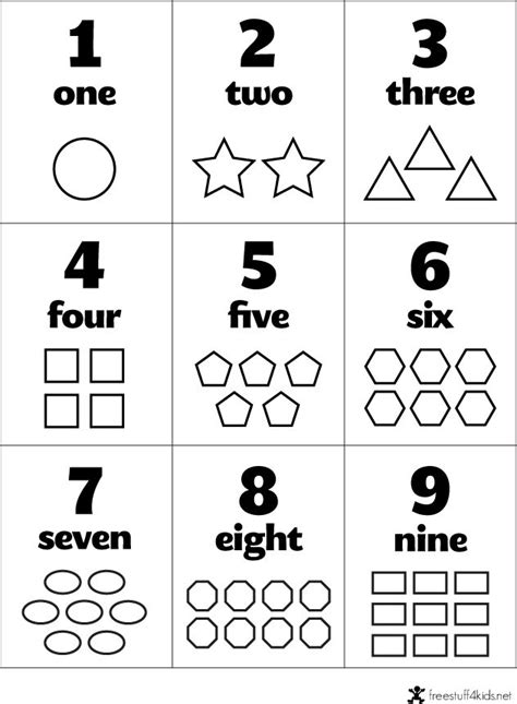 numbers for preschool free preschool flashcards numbers and shapes teaching 663