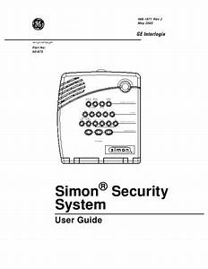 Ge Home Security System Simon Security System User U0026 39 S Guide
