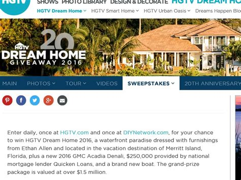 hgtv home giveaway 2016 sweepstakes sweepstakes