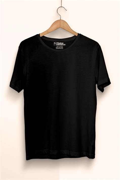 T Shirt Oceanseven A plain black premium cotton t shirt pindrop nonsense