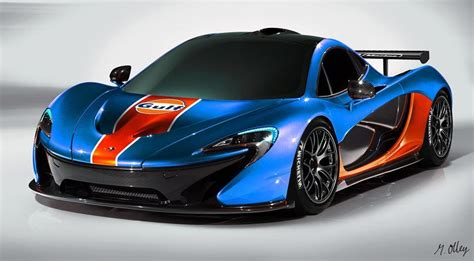 Gulf livered McLaren P1 rendering. | New mclaren, Mclaren ...