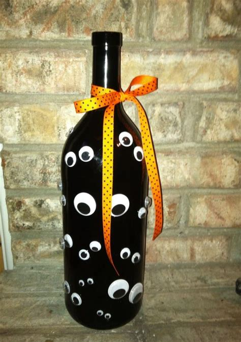 diy halloween wine bottles  ghoulish home decor