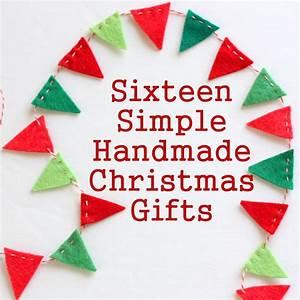 16 Simple Handmade Christmas Gift tutorials - Diary of a