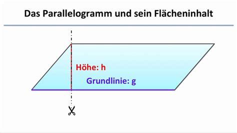 das parallelogramm zeichnen und flaecheninhalt berechnen