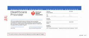 Custom card template american heart association cpr card template free card template samples for Cpr card template