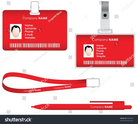 tag id card stock vector  shutterstock