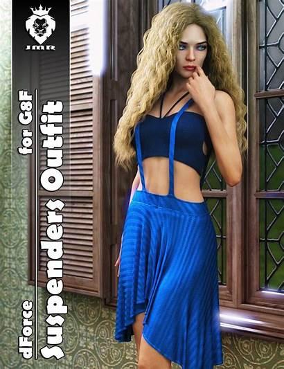 Dforce G8f Outfit Suspenders Jmr 3d Beth
