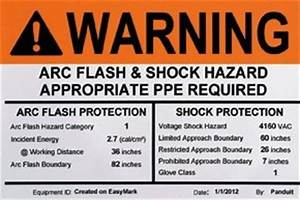 New nfpa 70e labeling requirements o the panduit blog for Arc flash labels explained