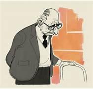 Old Man Cartoon Character Sketch