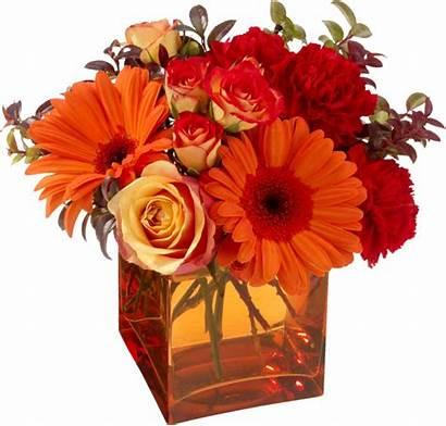 Flowers Orange Arrangements Fall Floral Colors Centerblog