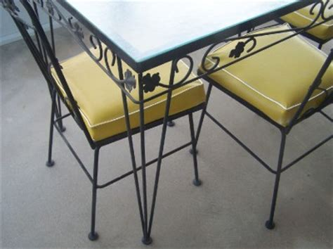 glass patio table and 4 chairs vintage wrought iron patio table and 4 chairs glass top
