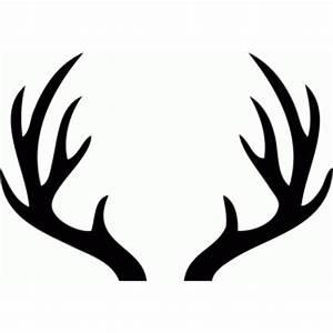 Silhouette Design Store - View Design #70127: deer antlers