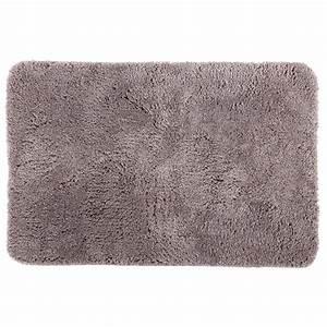 tapis microfibre salle de bain 60x90cm taupe With tapis de bain microfibre