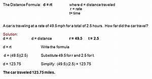 Basic Math Formulas