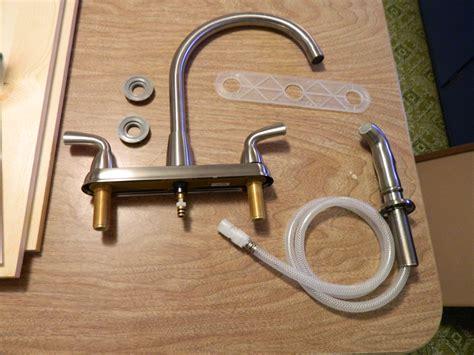 diy installing a kitchen faucet