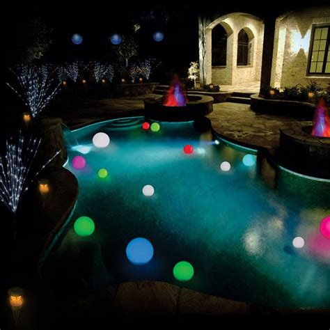 solar power changing color led floating light