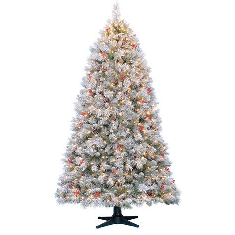 jaclyn smith christmas tree smith 7 5 grand flocked seasonal trees