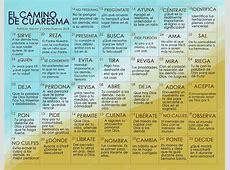 Calendario de Cuaresma 2018 – Odres Nuevos