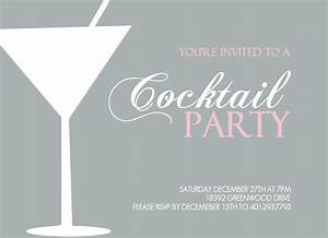 cocktail party invitation theruntimecom With cocktail party invite template