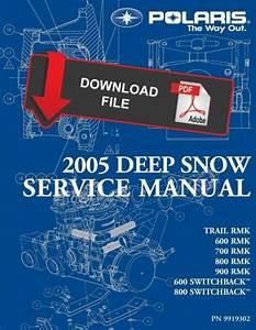 Polaris 2005 900 Rmk 151 U0026quot  Service Manual
