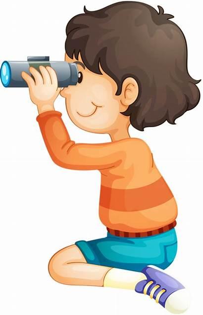 Binoculars Clipart Binocular Child Exploring Clip Kid