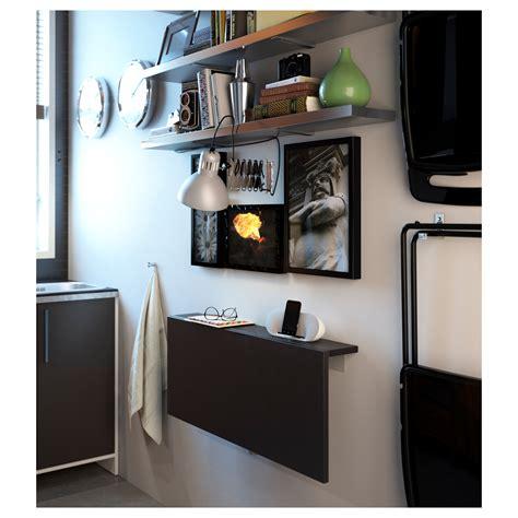 wall mounted drop leaf desk bjursta wall mounted drop leaf table brown black 90x50 cm