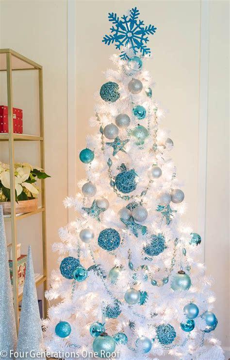 cute blue white christmas tree christmas trees