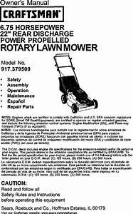 Craftsman 6 75 Lawn Mower Parts Manual