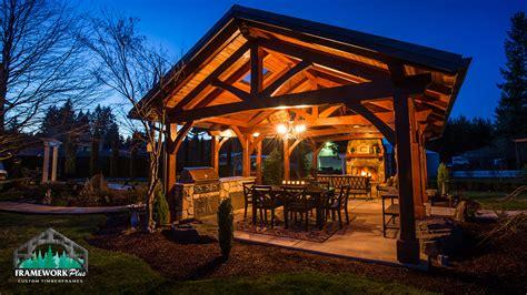backyard outdoor kitchen mt timber frame pavilion boring or framework plus
