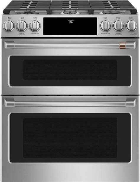 cgspms cafe     double oven gas range stainless steel