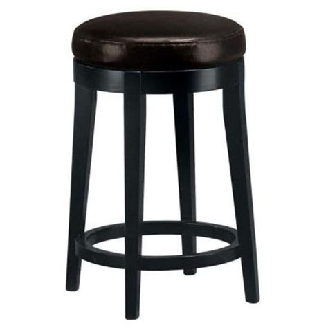 leather bar stool backless home decorators collection brown leather non tufted 6885