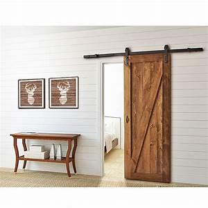 Rail Porte Coulissante Exterieure : rail pour porte coulissante barn noir rona ~ Dallasstarsshop.com Idées de Décoration