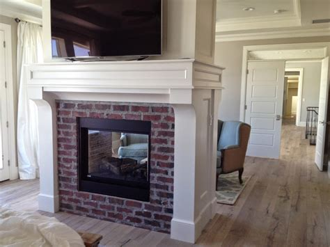 Brick Fireplaces With White Surround Mantels Hearth And
