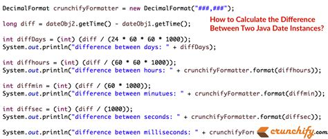 calculate difference java date instances crunchify